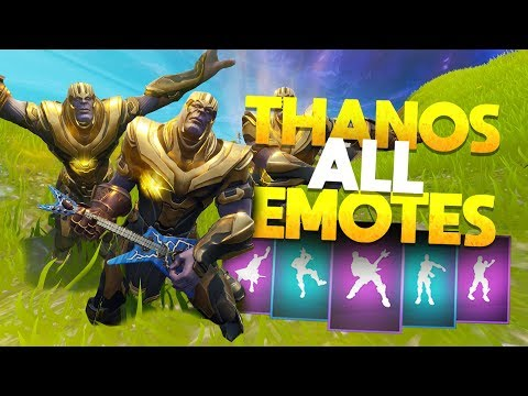 """""""Thanos"""" Doing ALL Of The EMOTE DANCES! - Fortnite Battle Royale Infinity Gauntlet"""