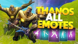 """Thanos"" Doing ALL of the EMOTE DANCES! - Fortnite Battle Royale Infinity Gauntlet"