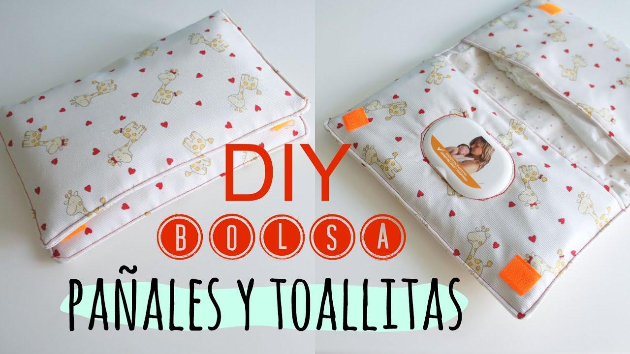 Diy bolsa para pa ales y toallitas de bebe pinafili - Como hacer un cambiador para bebes ...