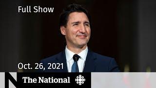 CBC News: The National | Trudeau's new cabinet, B.C. booster shots, Princess Mako