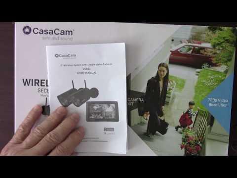 CasaCam Wireless Security System VS802 And CasaCam Spotlight Camera Review (Video #1 of 3)