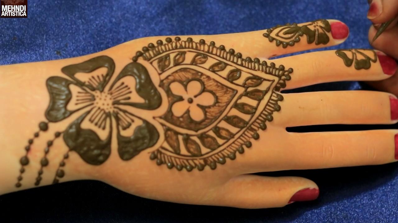 Mehndi Art Simple : Learn henna mehndi art for hands easy simple mehendi designs