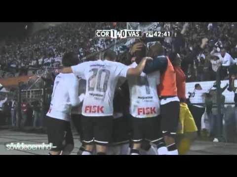 Corinthians 1 x 0 Vasco - Gol de Paulinho - Narração: Nilson César - Libertadores