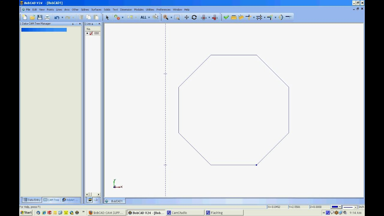 How to Draw Hex or Octagon in BobCAD