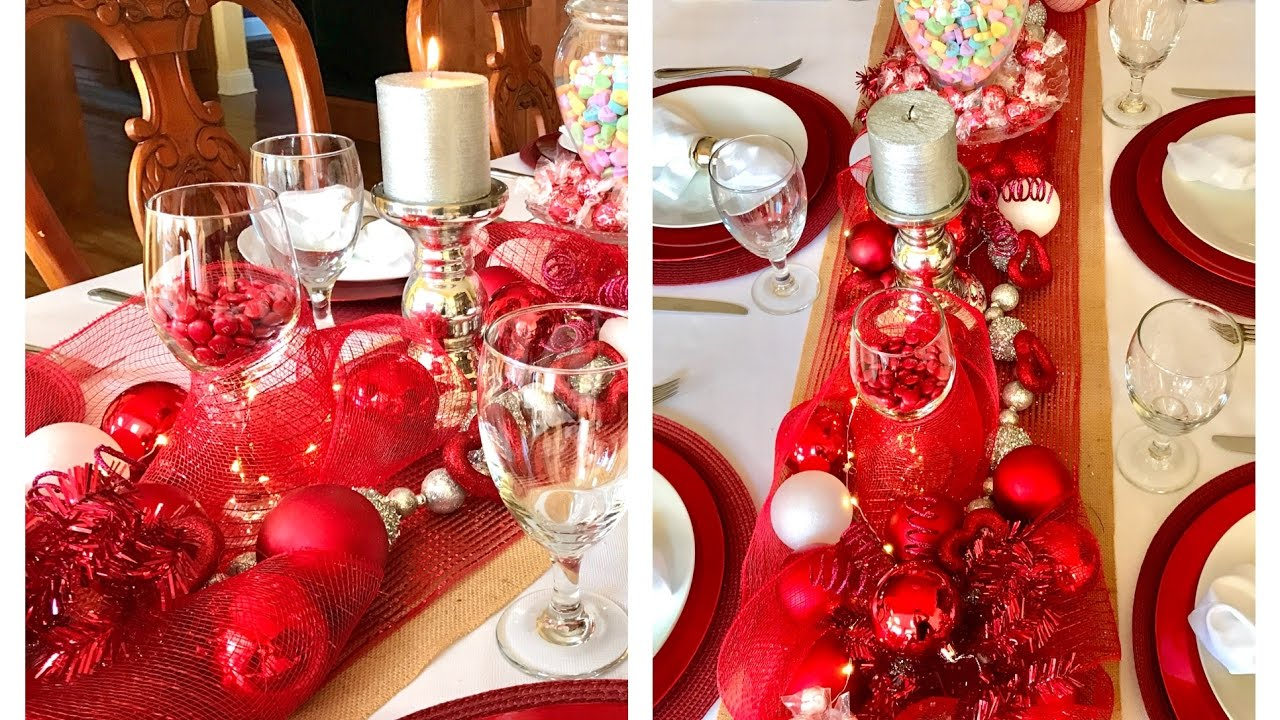 Valentine S Day Dinner Table Setting Tablescape Decor Youtube