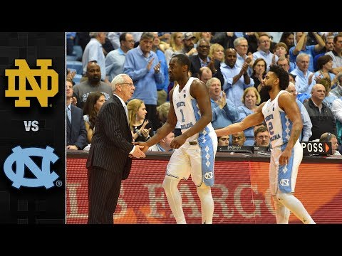 Notre Dame vs. North Carolina Basketball Highlights (2017-18)