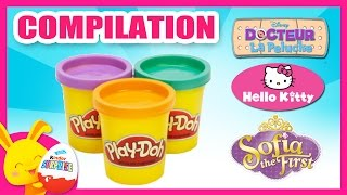 Pâte à modeler Play-Doh en français - Docteur La Peluche, Hello Kitty, Princesse Sofia - Titounis