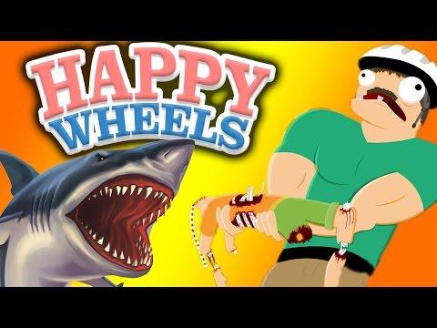 видео: НАПАДЕНИЕ АКУЛ - happy wheels - Возвращение! - №25