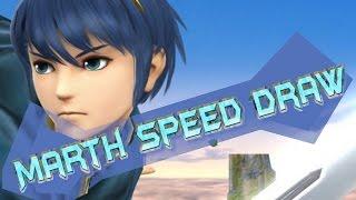 [SPEEDDRAW] -Marth- Smash Bros Speed Draw