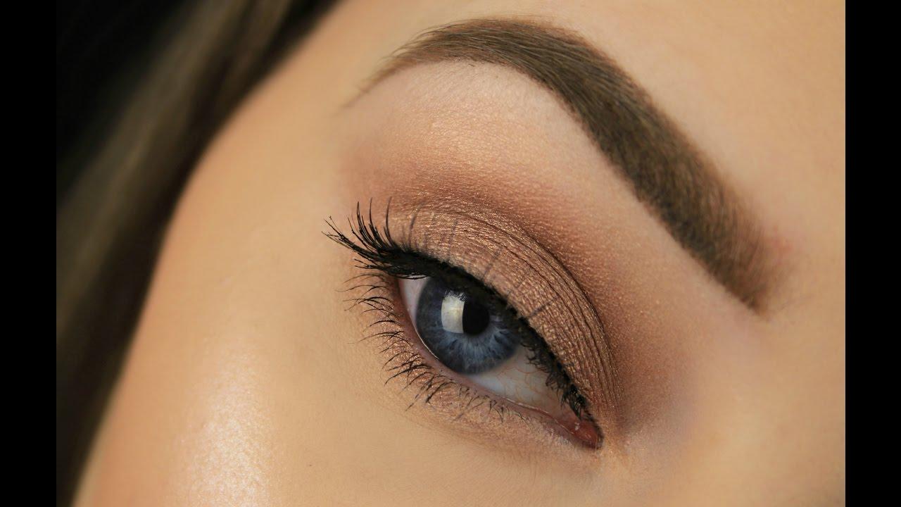 Beginners Smokey Eye Using Just 1 Brush And 1 Eyeshadow