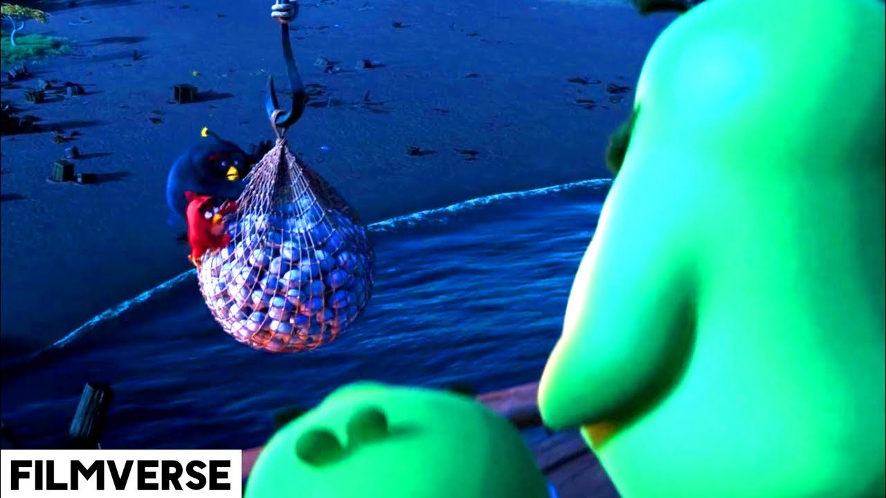 Download Angry Birds, 2016 - The Pigs Steals The Eggs Scene | FilmVerse