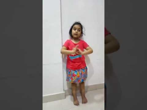 Baby singing ABCD poem