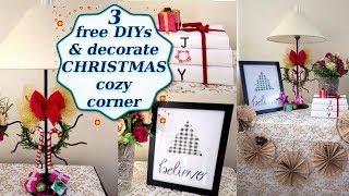 3 DIY & decorate Christmas Cozy Corner