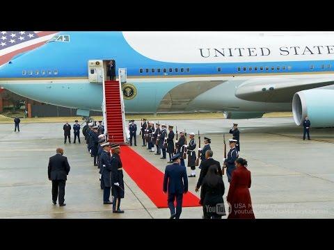 Goodbye Obama: Former President Obama Departing from Washington on Presidential Aircraft VC-25
