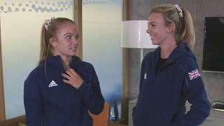 Teammates with the GB Fed Cup Team