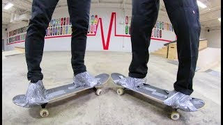 CAN'T GET OFF YOUR SKATEBOARD Game Of S.K.A.T.E. / Sam Vestal VS Justin Lonaker
