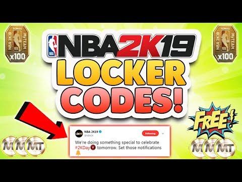 NBA 2K19 LOCKER CODE FOR FREE MT AND REWARD TOKENS!