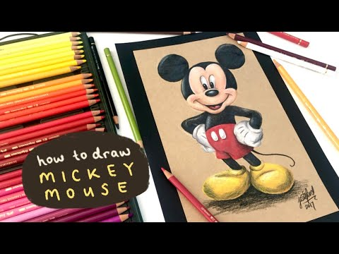 how-to-draw-mickey-mouse-(prismacolor-pencils)