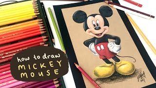 HOW TO DRAW MICKEY MOUSE (prismacolor pencils)