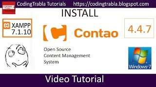 Install Contao 4.4.7 opensource PHP CMS on Windows 7 localhost byAO