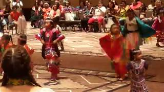 Women Are Sacred Pow Wow 2018  Tiny Tots Dance MOV 0438