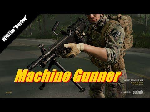 Machine Gunner - Alpha v10 - Full Match - (Squad Gameplay)