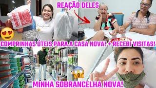 COMPRINHAS PARA A CASA NOVA! + RECEBI VISITAS| MINHAS SOBRANCELHAS NOVAS!| Juliane Jocoski