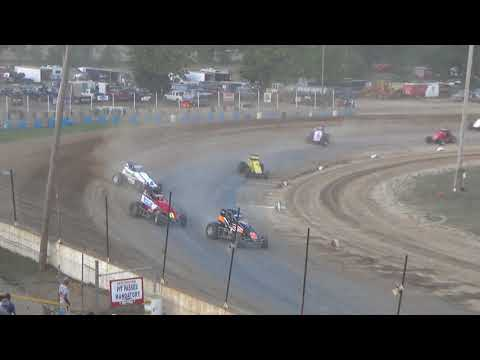 Traditional Sprints Heat Race #2 at Crystal Motor Speedway, Michigan, on 09-16-2017!