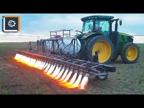 Смотреть Такой Обработки Почвы ВЫ еще НЕ ВИДЕЛИ. Невероятная сельхозтехника онлайн