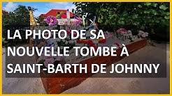 La photo de sa nouvelle tombe à Saint-Barth de Johnny Hallyday