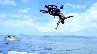 BMX Jumps into Water: 350 Birdman