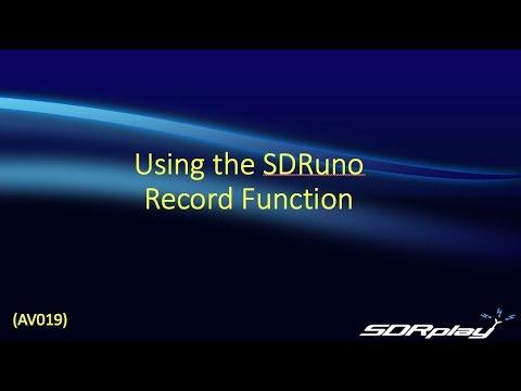 Using the SDRuno Record Function (AV019)