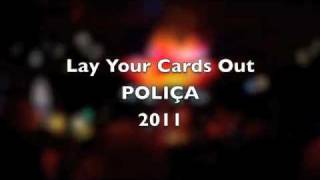 Polica- Lay Your Cards Out (HQ sound overlayed on The Turf Club concert performance)
