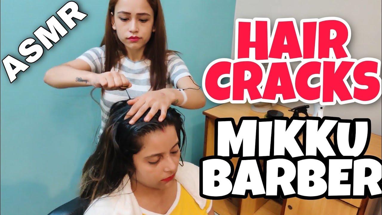 HAIR CRACKING HEAD MASSAGE BY 💈 MIKKU BARBER💈ASMR INDIAN BARBER