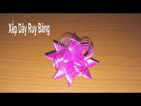 Hướng dẫn: Xếp Dây Ruy Băng_(Ribbon)_mẫu 3_Xoắn Nhọn