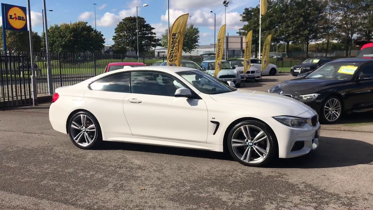 White with red leather bmw 4 series 2 0 420d m sport 2dr youtube - Bmw 2 series coupe white ...
