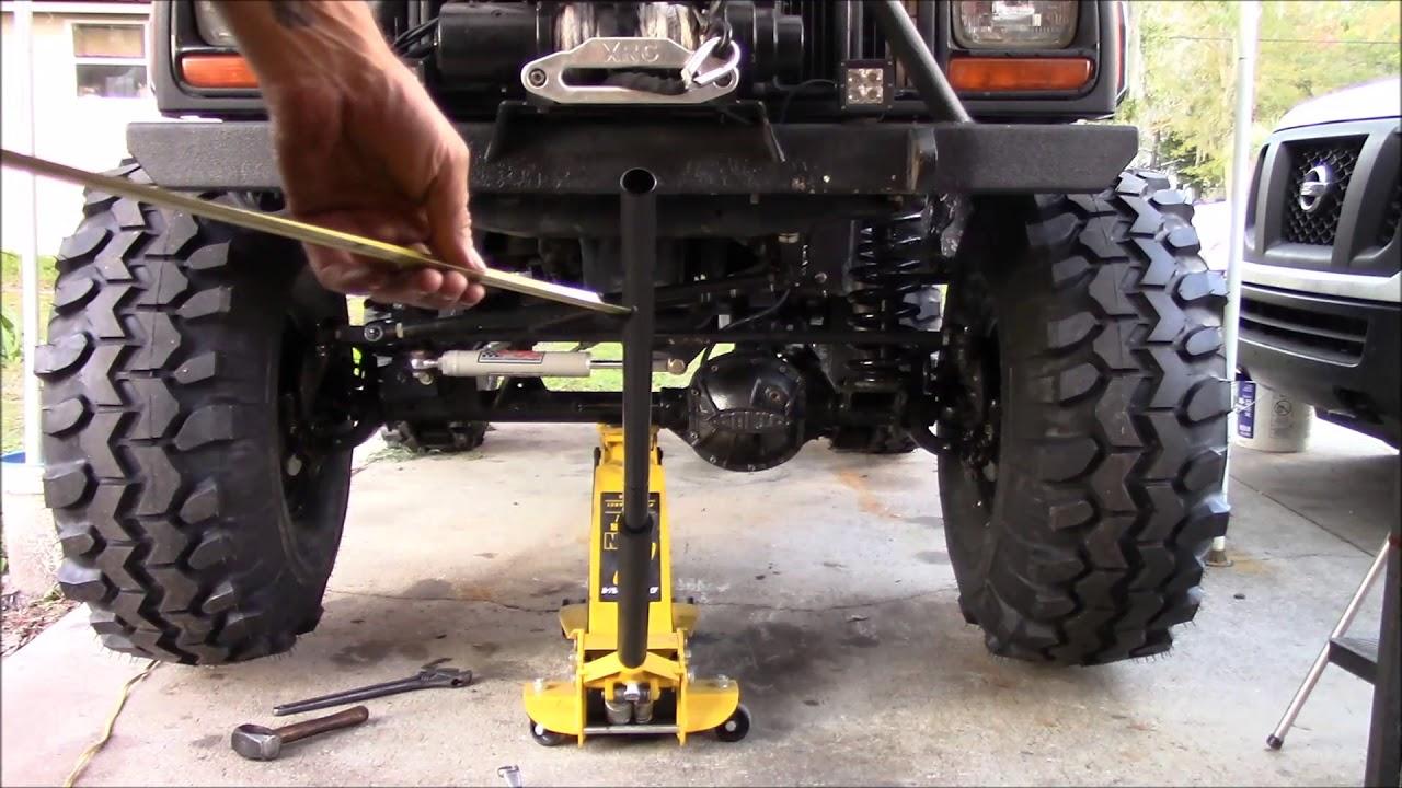 Jeep Xj Alignment Diy Youtube