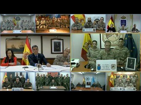 Sánchez traslada ás tropas españolas o respaldo e recoñecemento do Goberno