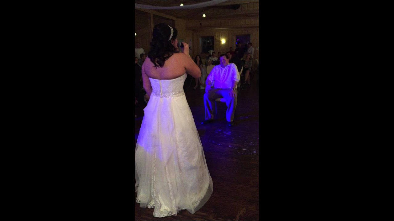 Bride Sings To Groom At Reception Carrie Underwood Look