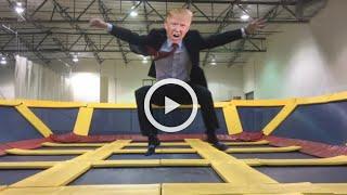 #Trump vs #Clinton Trump-oline #Parody at Sky High Sports Trampoline Park
