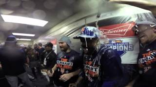 Inside the Mets champagne clubhouse celebration
