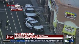 Police activity at Subway near Pecos, Tropicana
