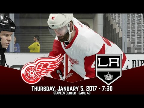 UNLUCKY! (Detroit Red Wings @ Los Angeles Kings) - NHL 17 Franchise Mode
