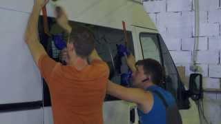 Врезка стекол в микроавтобус и фургон(, 2013-10-28T14:42:13.000Z)