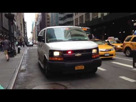 NYPD UNMARKED POLICE VAN RESPONDING AROUND E. 42ND ST. & LEXINGTON AVE IN MIDTOWN, MANHATTAN.