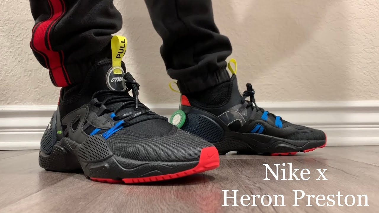 Nike x Heron Preston Huarache E.D.G.E. On Feet + Sizing
