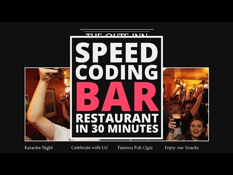 HTML/CSS Speed Coding: The Outs Inn | Bar And Restaurant