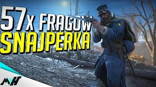 BATTLEFIELD 1 Multiplayer - Nivelle Nights - SNIPER 57 FRAGÓW [GAMEPLAY PL]