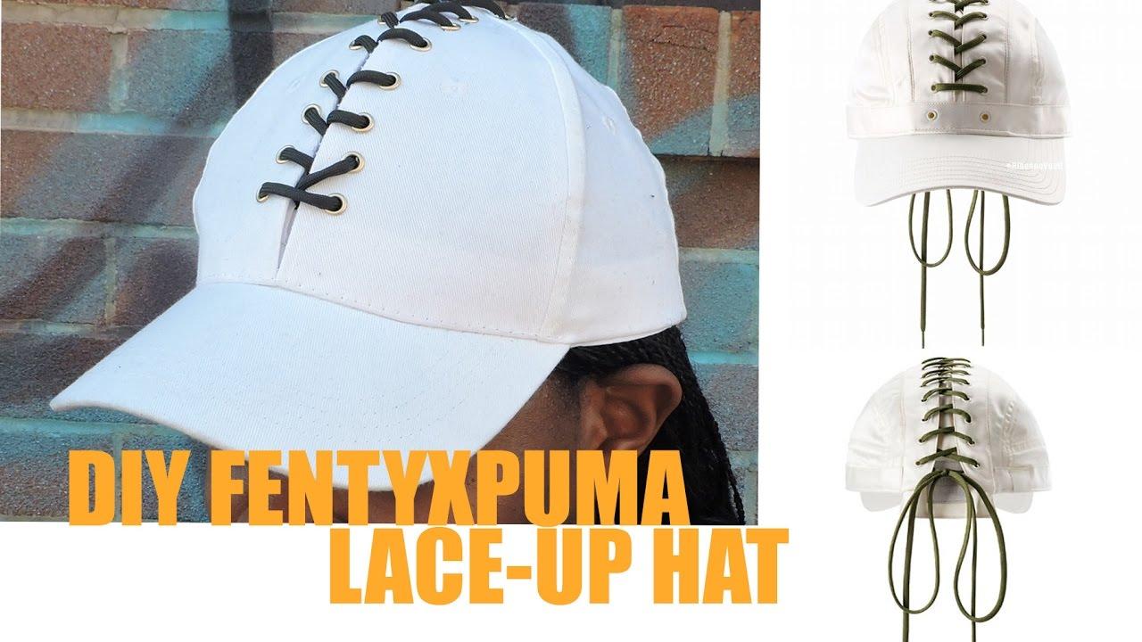 DIY Fenty X Puma Lace-Up Cap - YouTube a3f6e8b59a20