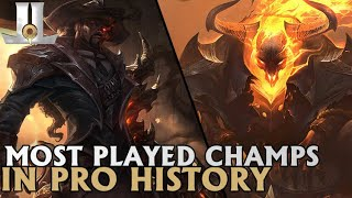 The Top 10 Most Played Champions in Pro History | Lolesports 2019